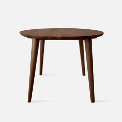 Solid Oak Round Table, Walnut
