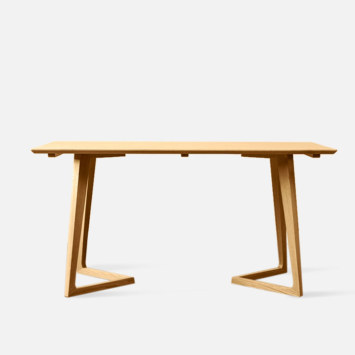 Horn Table L120-180 Oak