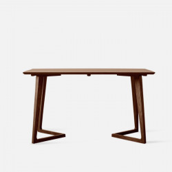 Horn Table L140, Dark Walnut [Display]