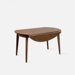 DOLCH Extendable Round Table, Walnut