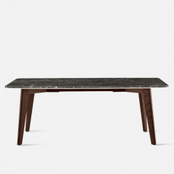NOVA Marble Table, Dark Grey, L140 - L240