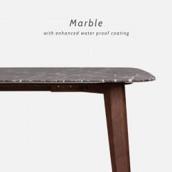 NOVA Marble Table, Dark Grey, L140 - L240