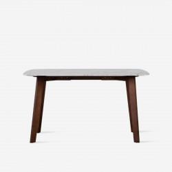 NOVA Marble Table, White, L140 - L240