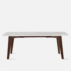 NOVA Marble Table, White, L140 - L240