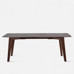 NOVA Marble Table V2, Dark Grey, L140 - L240
