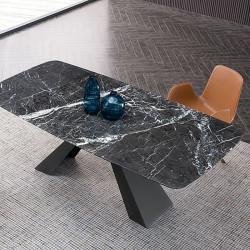 NOVA Marble V Leg Table, L200