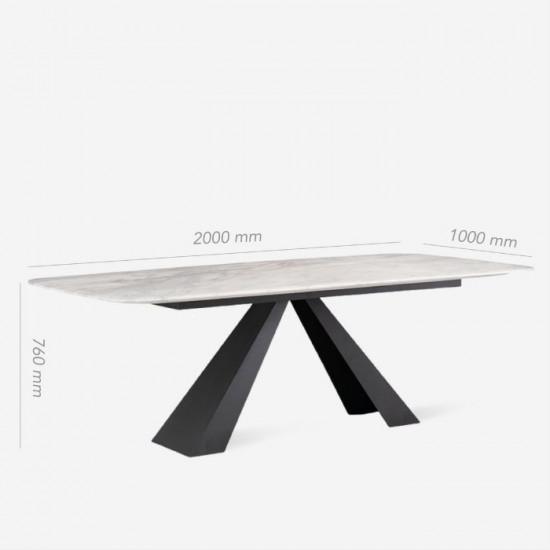 NOVA Marble V Leg Table