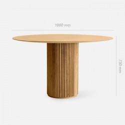 SEN Dining Round Table, Natural Walnut
