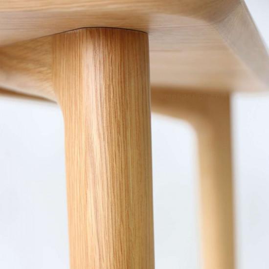 OAKI Dining Table L120-180, Natural Walnut