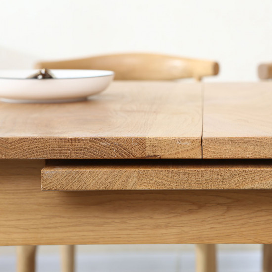 Shima Extendable Table L110 extended to L140, Walnut Brown [Display]