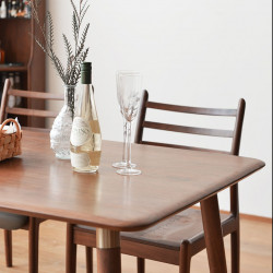 DANDY Dining Table, Natural Walnut