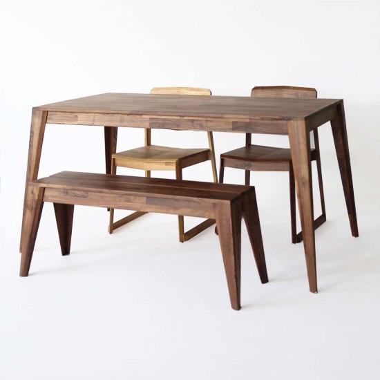Piece Table L140 - Walnut