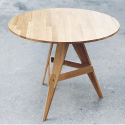 PIECE Round Table, D100, Light Oak