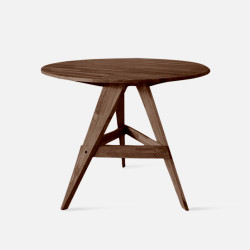 PIECE Round Table, D100, Natural Walnut