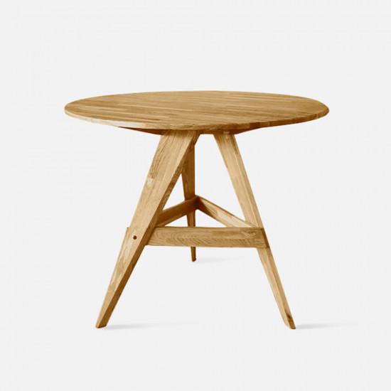 PIECE Round Table, D100, Light Oak