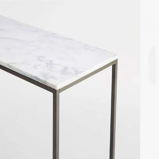 IND Dining Table, Natural Marble, L100 [Display]
