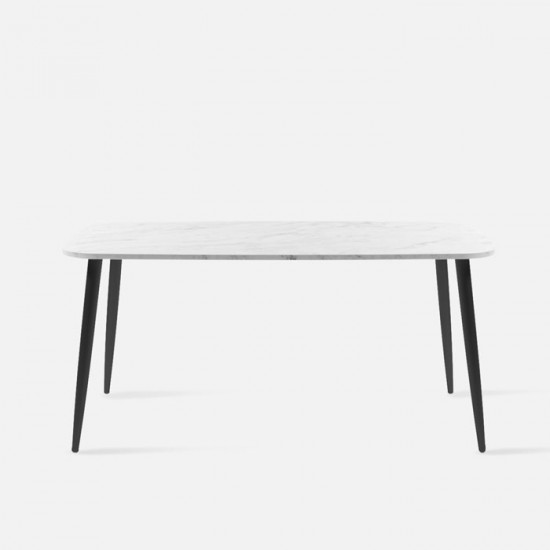 IND Dining Table, Natural Marble, L110 [Display]