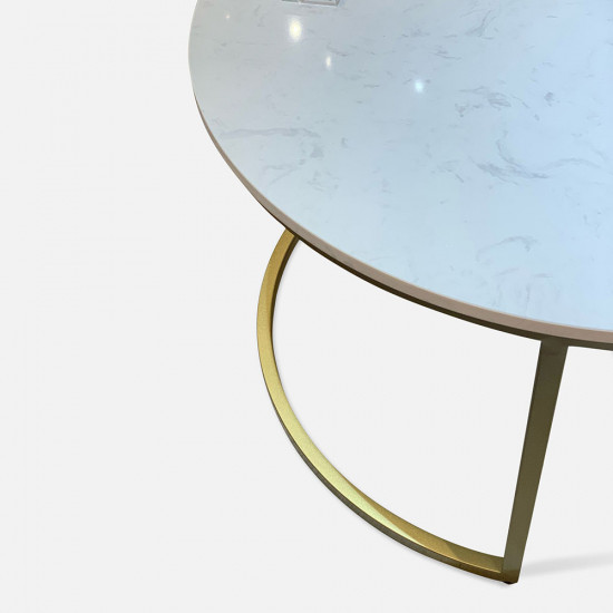 Marble Round Coffee Table D60/D80