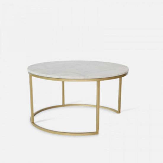 Marble Round Coffee Table D80 [Display]