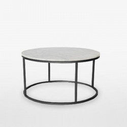 Marble Round Coffee Table D80