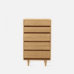 [SALE] Double Dip Chest of Drawers, W65, Oak