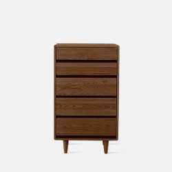 [SALE] Double Dip Chest of Drawers, W65, Walnut