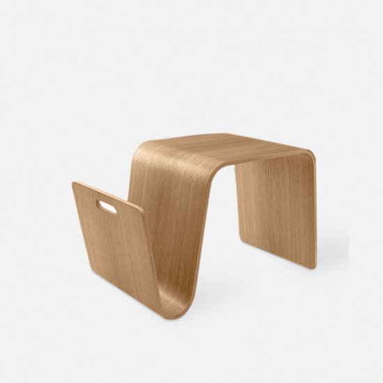 Plywood Side Table L70, Oak