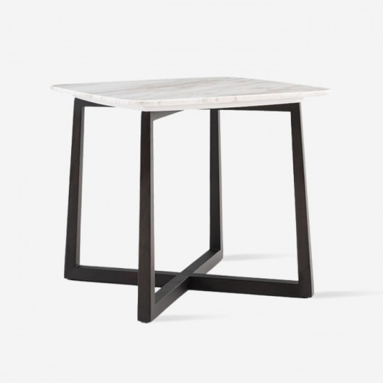 NOVA Square Marble Coffee Table, Black