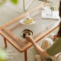NAIDNE Glass Coffee Table L90/120