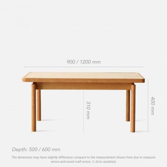 NAIDNE Glass Coffee Table L90/120