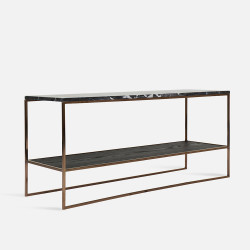 NOVA Long Coffee Table W110, Black marble