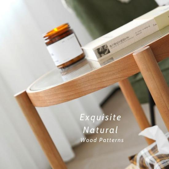 NAIDNE Glass Side Table
