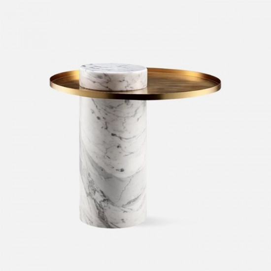Willow STONE side table, White