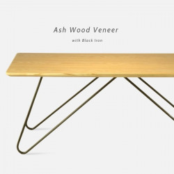 Willow Ash wood Veneer side table