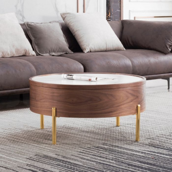 Willow storable round coffee table