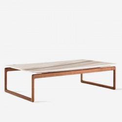 NOVA Natural Marble Square Coffee Table, White