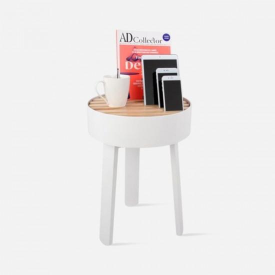 TRELLIS side table - White