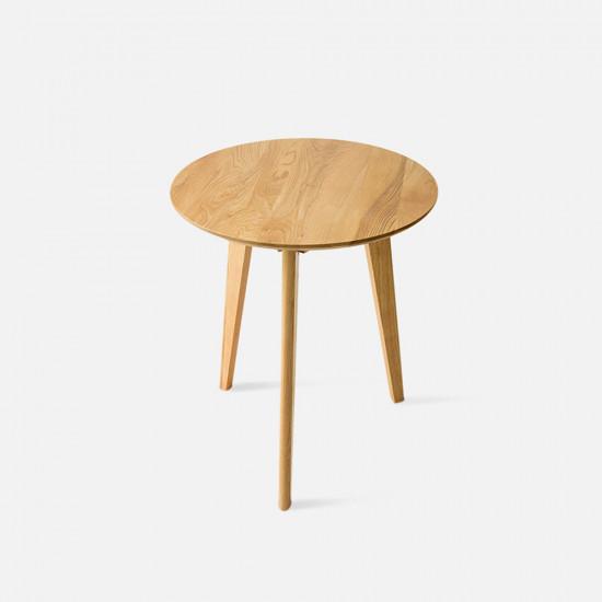 [SALE] Tri Side Table, D60, Oak