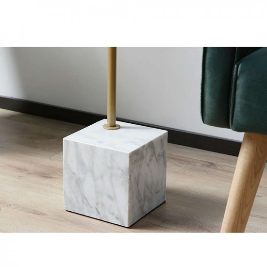 Marble based side table, White