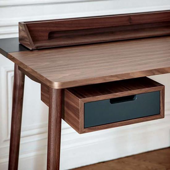 [SALE] Desk Honoré Walnut, W140, Light Grey