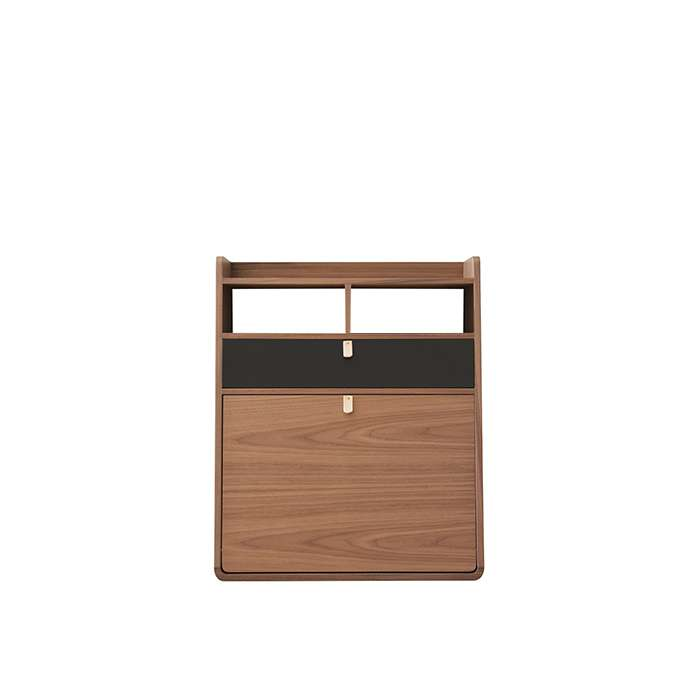 Wall Secretary Desk Gaston Walnut 60 - Slate Grey