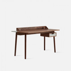 [SALE] Desk Honoré Walnut, W140, Light Grey