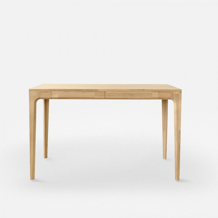PIECE CURVE Working Table L120 - Light Natural Oak