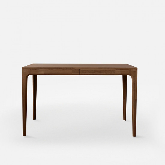 [Sale] PIECE CURVE Working Table, L110, Natural Walnut