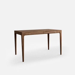 [Sale] PIECE CURVE Working Table, L110, Natural Walnut
