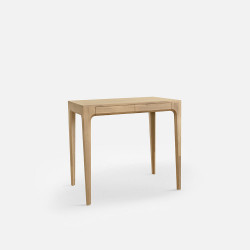 [Final Sale] PIECE CURVE Working Table, L90, Light Natural Oak