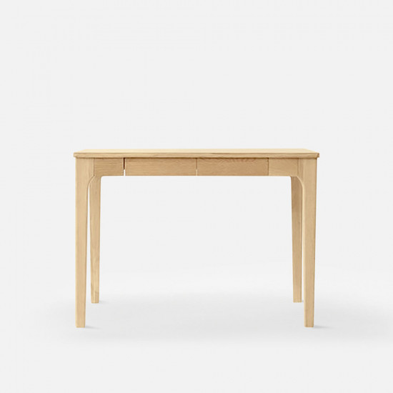 DANA Curved Work Desk L100/L120, Oak