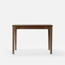 DANA Curved Work Desk L120, Walnut