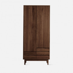 Dolch Side Wardrobe,  Natural Walnut, Custom