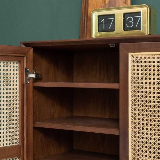 SEN RATTAN Shoe Cabinet V.2, WB, L90